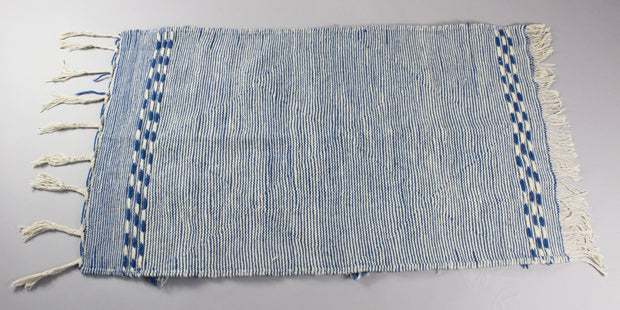 Adilah - Small Blue Hand-knotted Double Sided Wool Moroccan Berber Carpet