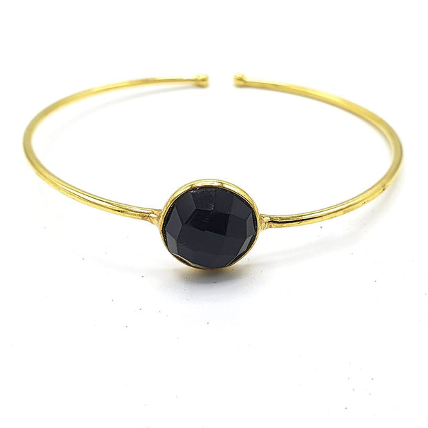Aisha - Black Onyx Gemstone Adjustable Bracelet