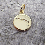 18k Gold Astra Constellation Pendant Charms - Aries