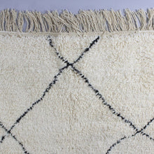 Load image into Gallery viewer, Beni Ourain - Large Cream And Black Hand-Knotted Moroccan Wool Berber Rug
