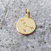 18k Gold Astra Constellation Pendant Charms - Cancer