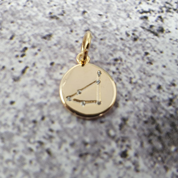 18k Gold Astra Constellation Pendant Charms - Capricorn