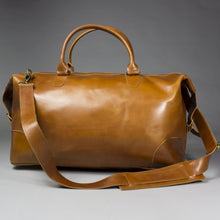 Load image into Gallery viewer, Chi - Large Brown Leather Holdall With Suede Lining