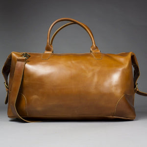8db818b74118 Chi - Large Brown Leather Holdall with Suede Lining