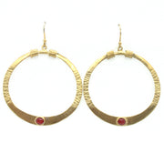 Gold plated Crimson Red Tanvi earrings