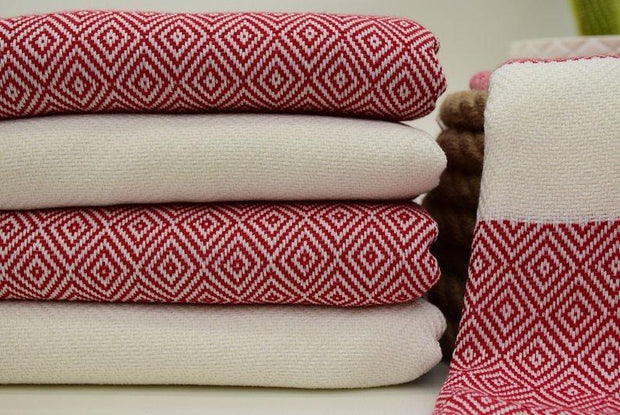 Hammam Turkish Towel Red