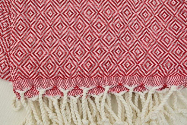 Hammam Turkish Towel Peshmetal in Red