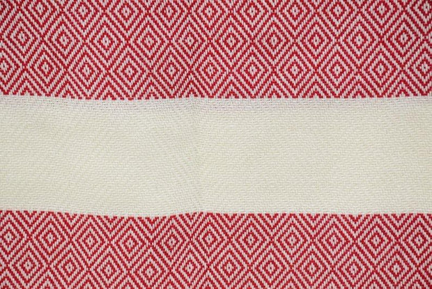 Hammam Turkish Beach Towel, Fouta, Peshmetal in Red
