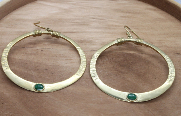 Emerald Green Tanvi earrings