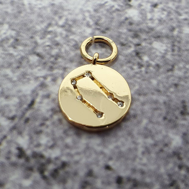 18k Gold Astra Constellation Pendant Charms - Gemini