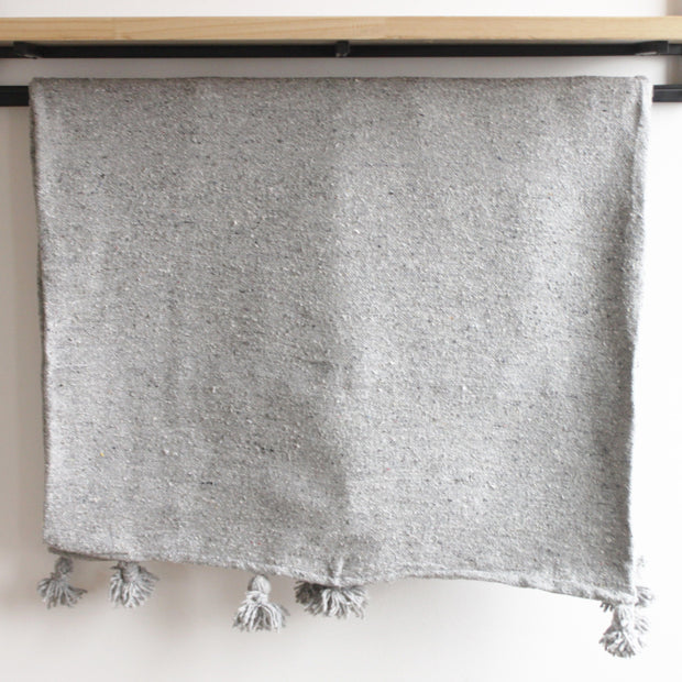 Imane Moroccan Throw, Grey