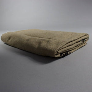 Kamal - Large Brown And Black Patterned Heavy Cotton Moroccan Throw
