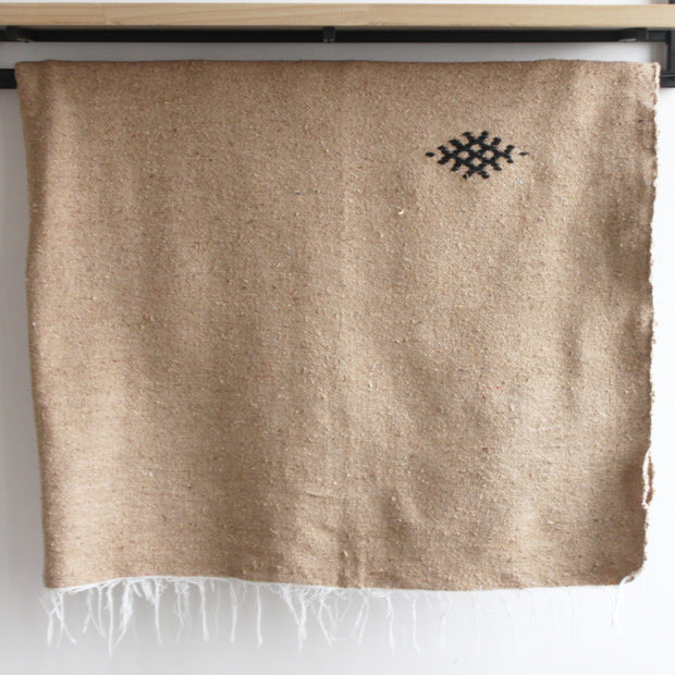 Kamal Moroccan Throw honey brown