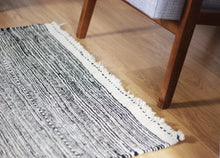 Load image into Gallery viewer, Latifah - Dark Black and White Hand-Knotted Berber Zanafi Rug
