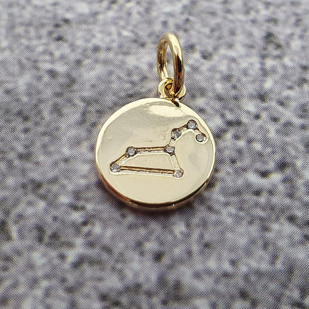 18k Gold Astra Constellation Pendant Charms - Leo