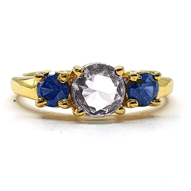 Lolita - Morganite With Iolite Round Gemstone Ring