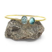 Mandira - Blue Topaz Gemstone Adjustable Bracelet
