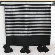 Mehdi Moroccan Black and White Cotton Throw