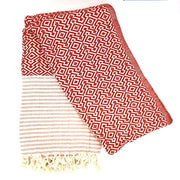 Nisa Hammam Towel, Red