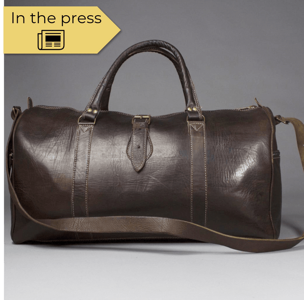 Omar - Large Moroccan Dark Leather Weekend Travel Bag