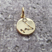18k Gold Astra Constellation Pendant Charms - Pisces