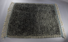 Load image into Gallery viewer, Rayan - Large Blue and Black Hand-Knotted Vintage Wool Berber Rug