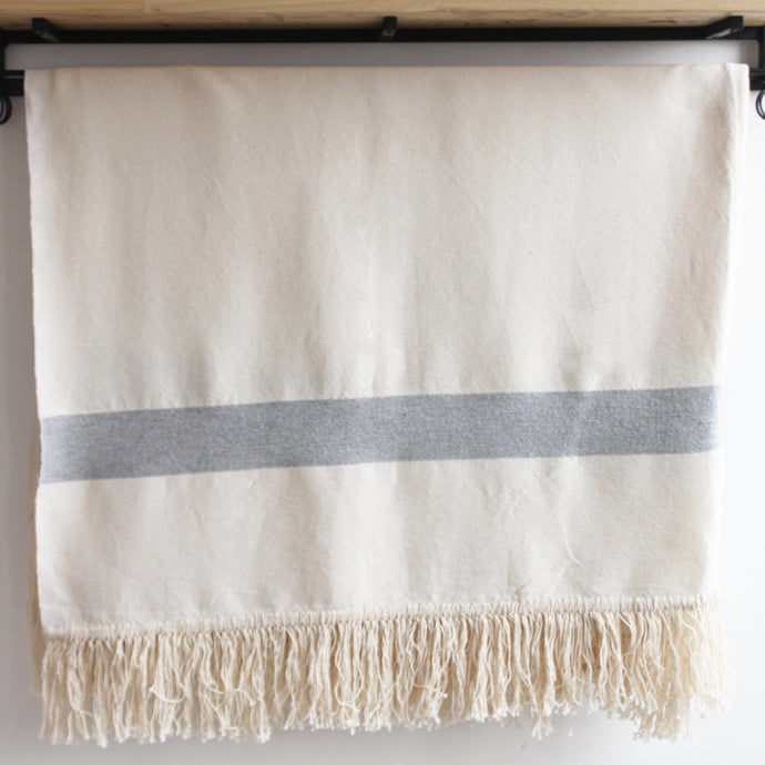 Rehana Moroccan Throw, Cream and Grey