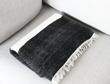 Load image into Gallery viewer, Riad - Large Black And White Striped Luxury Cashmere Moroccan Throw