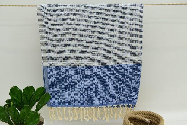 Hammam Turkish Beach Towel Peshmetal in Blue