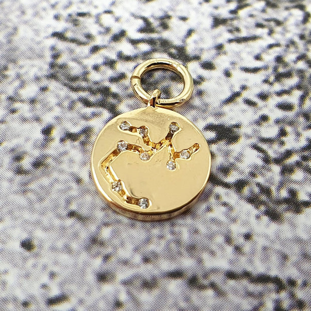 18k Gold Astra Constellation Pendant Charms - Sagitarrius