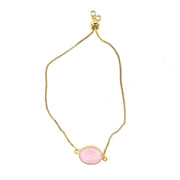 Saguna - Pink Chalcedony Gemstone Adjustable Bracelet
