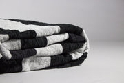Salim Moroccan Throw, Black and Grey