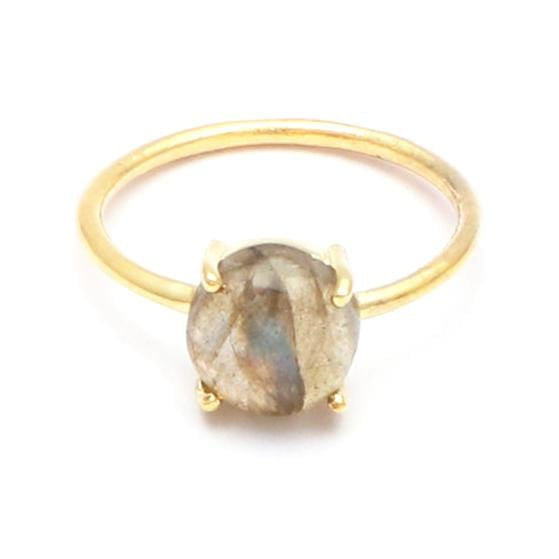 Shanaya - Gold Plated Labradorite Gemstone Ring
