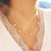 Minimalist Gold Disc Necklace