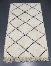 black and white Berber rug