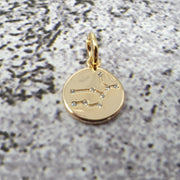 18k Gold Astra Constellation Pendant Charms - Virgo