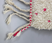 Load image into Gallery viewer, Zakaria - Large White And Pink Handmade Berber Wool Moroccan Rug