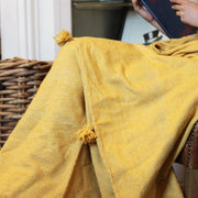 Nahla Moroccan Throw, Mustard
