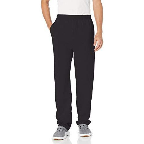 Hanes mens EcoSmart Fleece Sweatpant with Pocket black M