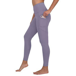 90 Degree By Reflex Womens Power Flex Yoga Pants - Plum Frost - XL