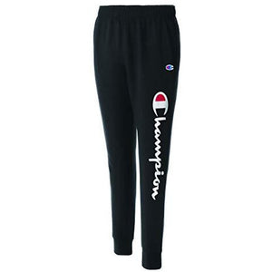 Champion Men's Graphic Powerblend Fleece Jogger, Black, Medium