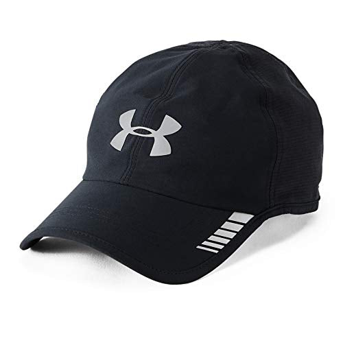 Under Armour Men's Launch ArmourVent Cap, Black (001)/Silver, One Size Fits All