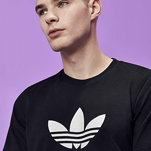 adidas Originals Men's Trefoil Tee Shirt, Black