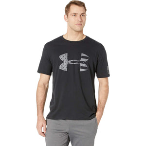 Under Armour Freedom Tonal Big Flag Logo T-Shirt, Black//Graphite