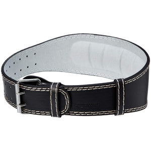 AmazonBasics 4 Inch Wide Padded Weight Lifting Belt - Small, Black