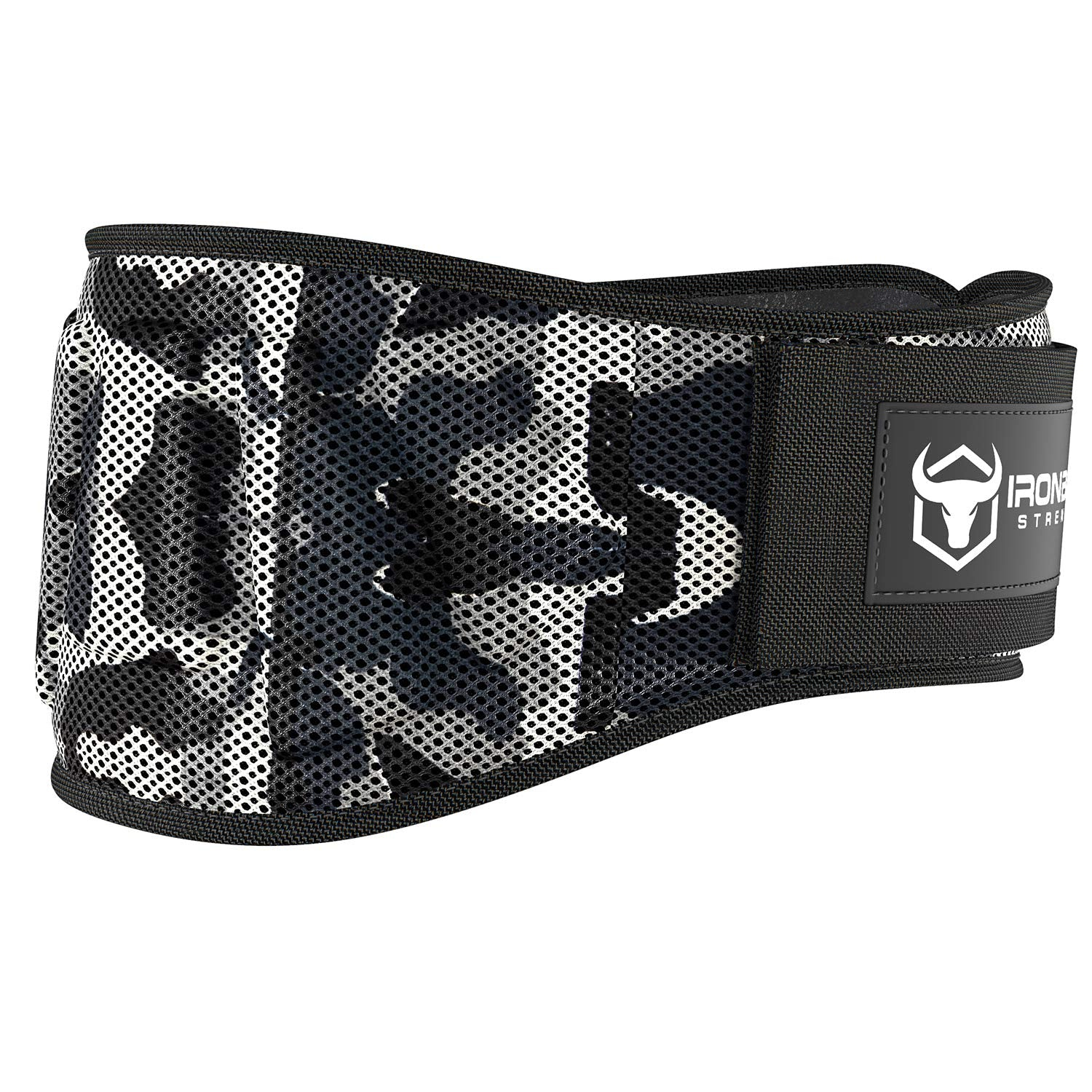 Iron Bull Strength Weightlifting Belt for Men and Women - 6 Inch Auto-Lock Weight Lifting Back Support, Workout Back Support for Lifting, Fitness, Cross Training and Powerlifitng (Large, Camo White)