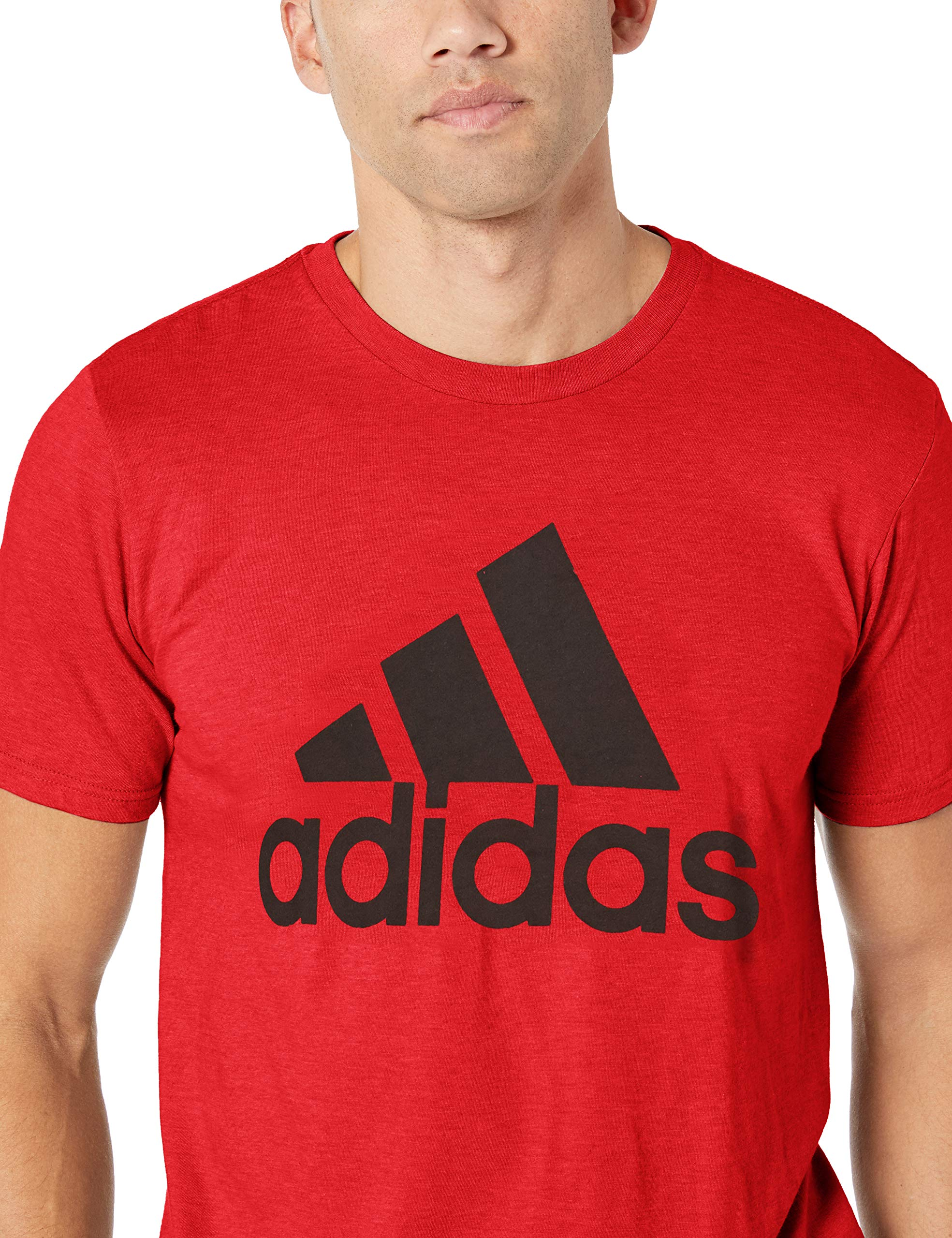 adidas Men's Badge of Sport Graphic Tee, Scarlet/Black