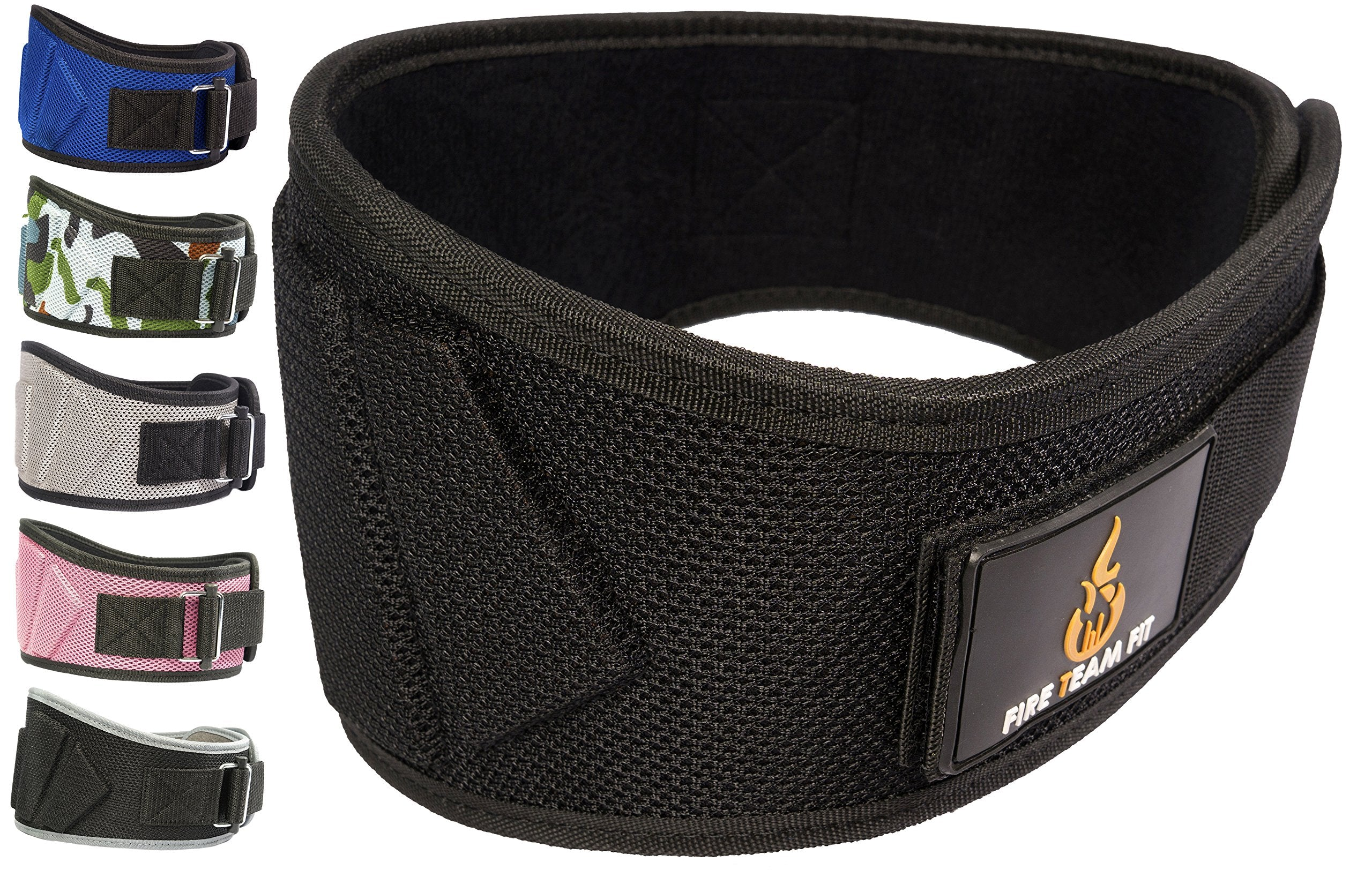 "Fire Team Fit Lifting Belt, Gym Belt, Weight Lifting Belts, Weight Belts for Lifting (Black, 32"" - 38"" Around Navel, Medium)"