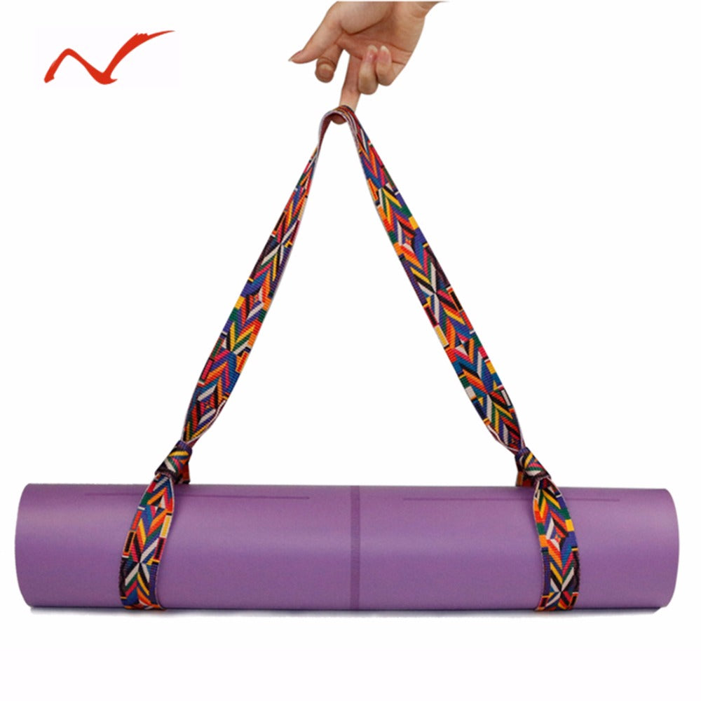 Adjustable Cotton Yoga Mat Strap/Carrying Sling