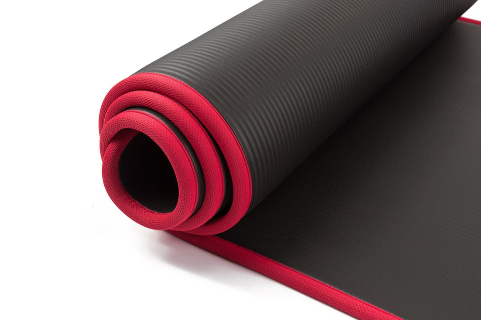 10MM Extra Thick Yoga Mat with Carrying Straps
